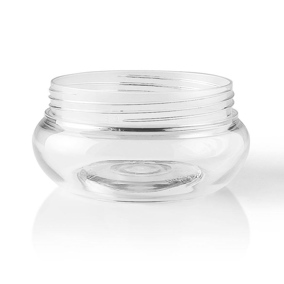 100 Ml Clear Pet Plastic Jar Round 70mm Special Neck