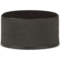 24-414 Continuous Thread Lined Black Plastic Closure