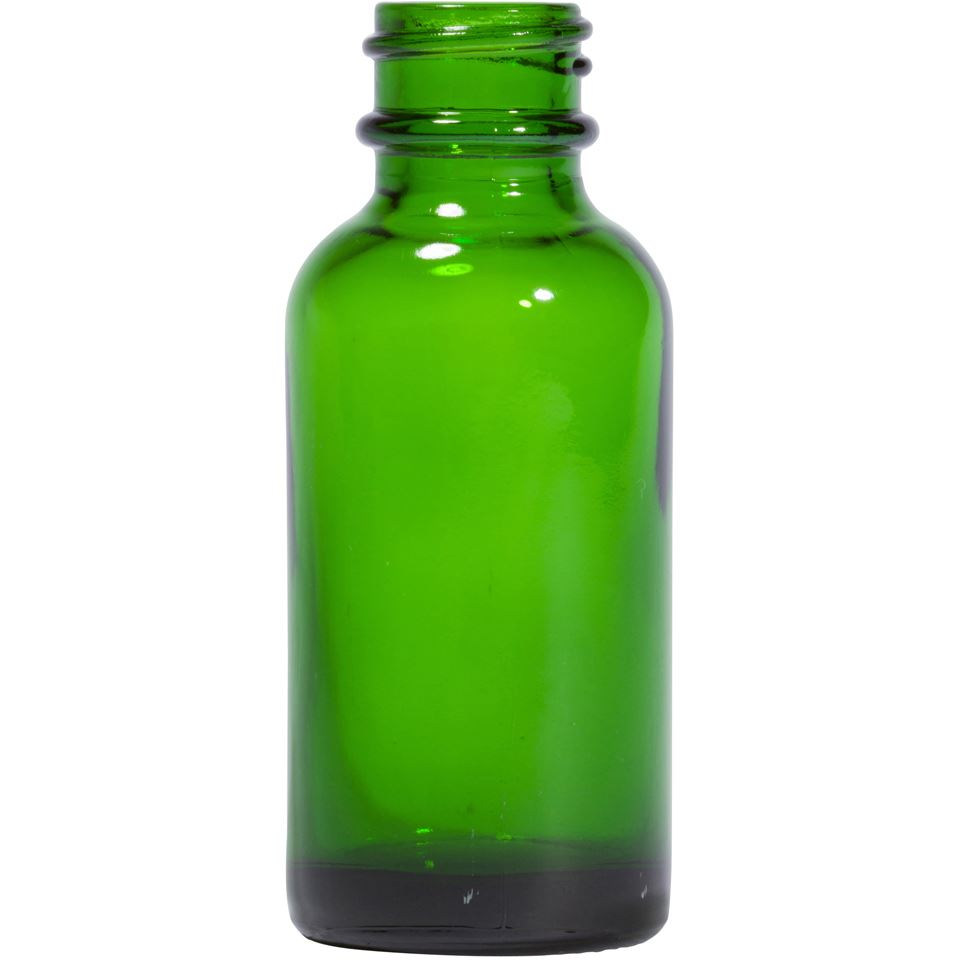 aad17f8b93e5 1 oz Round Glass Green Boston Round Bottle