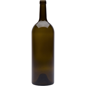 1.5 liter Antique Green Glass Claret Wine Bottle | Cork Neck Finish | 1040 Gram Weight