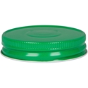 70-450 Continuous Thread Green Metal Closure with Vacuum Button- Front View