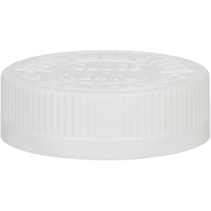 53-400 White P/P Child Resistant Push and Turn Closure- Front View