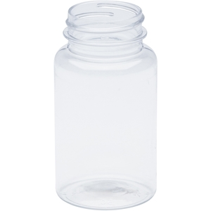 120 cc Clear PET Plastic Packer Round with 38-400 Neck Finish