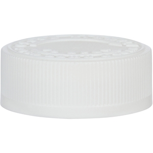 38-400 White P/P Child Resistant Push and Turn Closure - Front View
