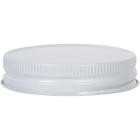 70-450 Continuous Thread Lined White/White Metal Closure - Front View