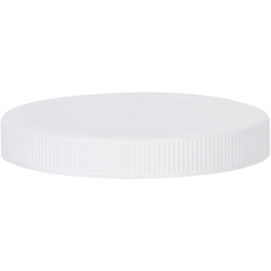 110-400 Continuous Thread Lined White P/P Plastic Closure - Front View