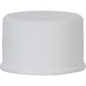 24-410 Continuous Thread Lined White P/P Plastic Closure - Front View