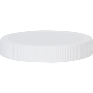 89-400 Continuous Thread Lined White P/P Plastic Closure - Front View