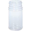 6 oz Clear K-Resin Plastic Spice Jar Round