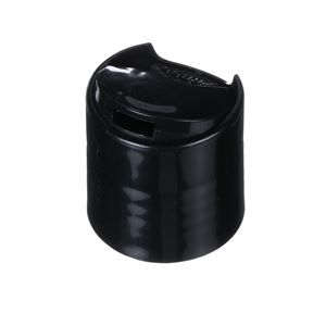 24-410 Press Top Dispensing Black P/P Plastic Closure
