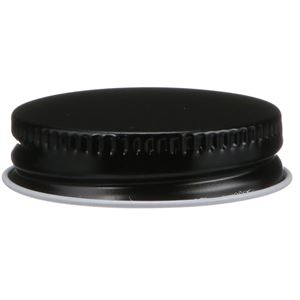 38-400 Continuous Thread Lined Black/White Tinplate Metal Closure