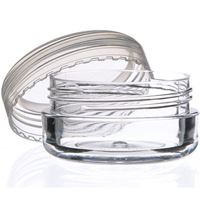 10 ml Clear P/S Plastic Round Thick Wall Balm Jar - Closure Included - Open Front View