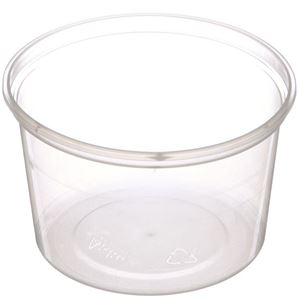 16 oz Natural P/P Plastic Round Tub with 410 Diameter - Angled View