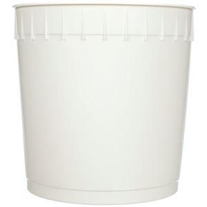 2.5 Gallon White HDPE Plastic Round Pail with 239 mm Outside Diameter - Front View