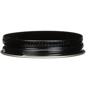 48-400 Continuous Thread Lined Black/Gold Metal Closure - PAF Liner - Side View