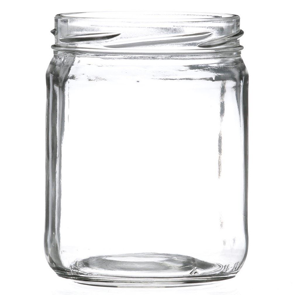 16 Oz Wide Mouth Round Clear Glass Jar With 82mm Lug