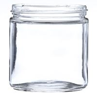 16 oz Clear Glass Round Jar - 89-400/405 Special I Neck Finish - Side View