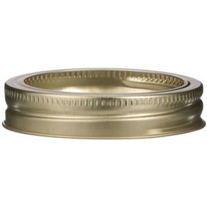 70mm Screw Thread Band Gold Metal - For Regular Mouth Canning Jar - Reusable - Side View