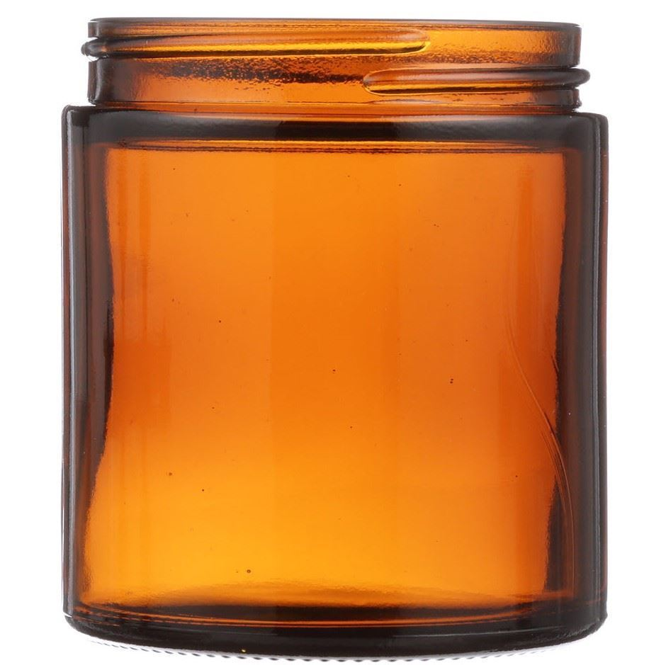 4 Oz Amber Glass Round Salve Jar 58 400 Neck Finish