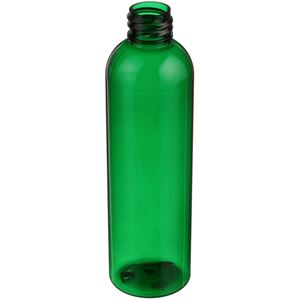 4 oz Green PET Plastic Bullet Round Bottle - 20-410 Neck Finish  - Angled View