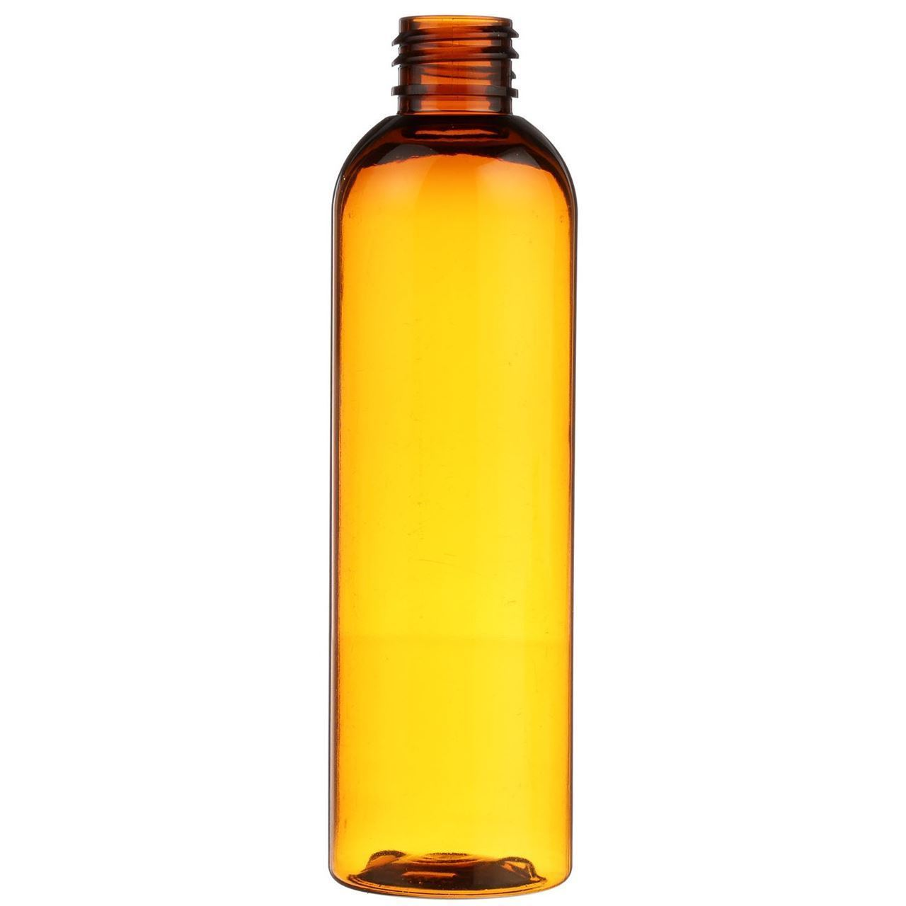 4 Oz Amber Pet Plastic Bullet Round Bottle 20 410 Neck