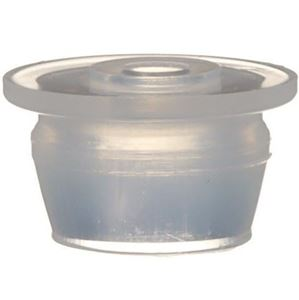 13 mm Natural LDPE Plastic Orifice Reducer Fitment - 2 mm Orifice - Front View