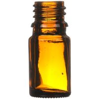 5 ml Amber Glass Euro Dropper Bottle - 18mm DIN Neck Finish - Front View