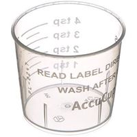 20 ml Natural P/P Plastic Dosage Medicine Cup with Graduations Marks - Angled View