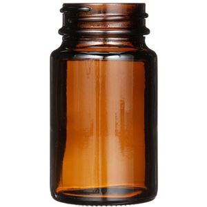 75 cc Amber Glass Round Packer Bottle - 38-400 Neck Finish - Front View
