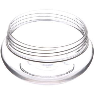100 ml Clear PET Plastic Jar Round - 70mm Special Neck Finish - Angled View