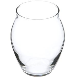 10 oz Clear Glass Round Hurricane Candle Jar - Non-Threaded Neck Finish - Angled View