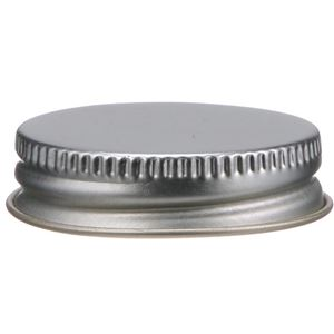 38-400 Continuous Thread Lined Silver Metal Closure - F-217 Liner - Front View