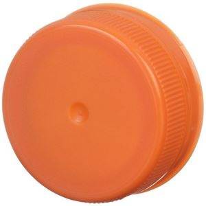 38mm Special Tamper Evident Linerless Orange Closure - Snap On/Screw Off - Angled View