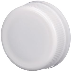 38mm Special Tamper Evident White P/P Plastic Closure - Angled View