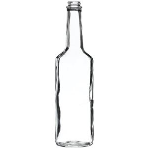 25 oz Clear Glass Round Cocktail Mix Bottle - 28-405 Neck Finish - Front View