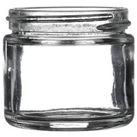 2 oz Clear Glass Round Straight Sided Jar - 53-400/405 Neck Finish - Front View