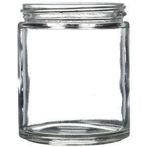 6 oz Clear Glass Round Jar - 63-400 Neck Finish - Front View