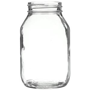 32 oz Clear Glass Round Mayo Jar - 70-450 Neck Finish - Front View