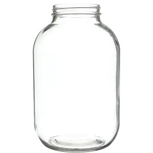 1 Gallon Clear Glass Round Jar - 89-405 Neck Finish - Front View