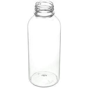 16 oz Clear PET Plastic Bullet Round Bottle - 38mm Tamper Indicating Neck Finish - Angled View