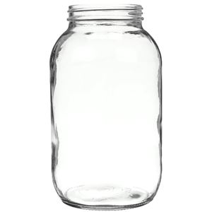 64 oz Clear Glass Round Jar - 83-405 Neck Finish - Front View