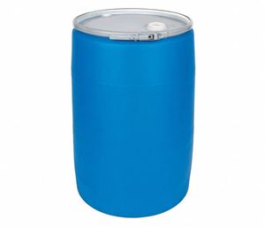 55 Gallon Blue HDPE Plastic Drum Round