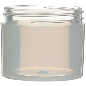 2 oz Natural P/P Plastic Thick Wall Jar - 53-400 Neck Finish - Front View