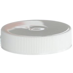 43-400 Continuous Thread Lined White Plastic Closure - Front View