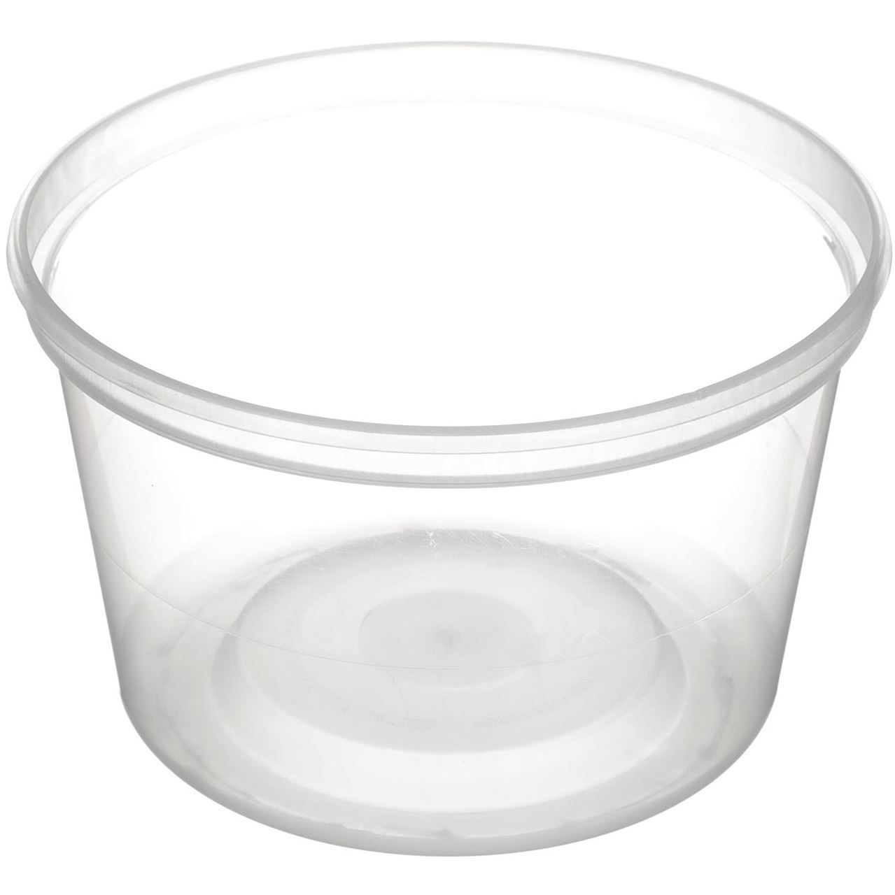 360 Product Spin Icon 16 Oz Clarified P Plastic Tub Round 410 Diameter Angled View
