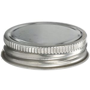 """1.75 Inch Continuous Thread Lined Metal """"Delta"""" Can Closure - Pulp/Aluminum Liner - Front View"""