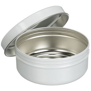 16 oz Round Tin Can with Slip On Lid - Angled View