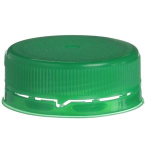38mm Special Tamper Evident Linerless Green Closure - Snap On/Screw Off - Front View
