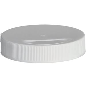53-400 Continuous Thread Lined White P/P Plastic Closure - PS22 & F217 Liners - Side View