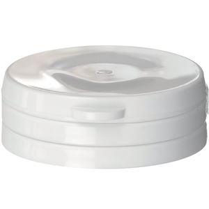 38-400 Flip Top Tamper Evident Lined White P/P Plastic Closure - HS035 Pulp Liner  - Front View